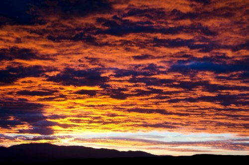 Firey and wild sky.
