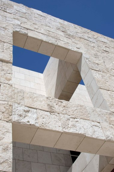 A corner of the Getty Center, an architectural feat.