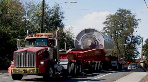 Oversize objects always need help to maneuver.
