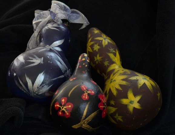 Gourds are only useful when they are empty...unless you turn them into object d'art.